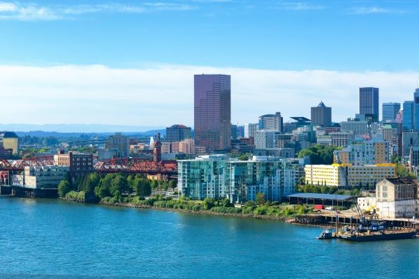Downtown Portland Oregon city skyline