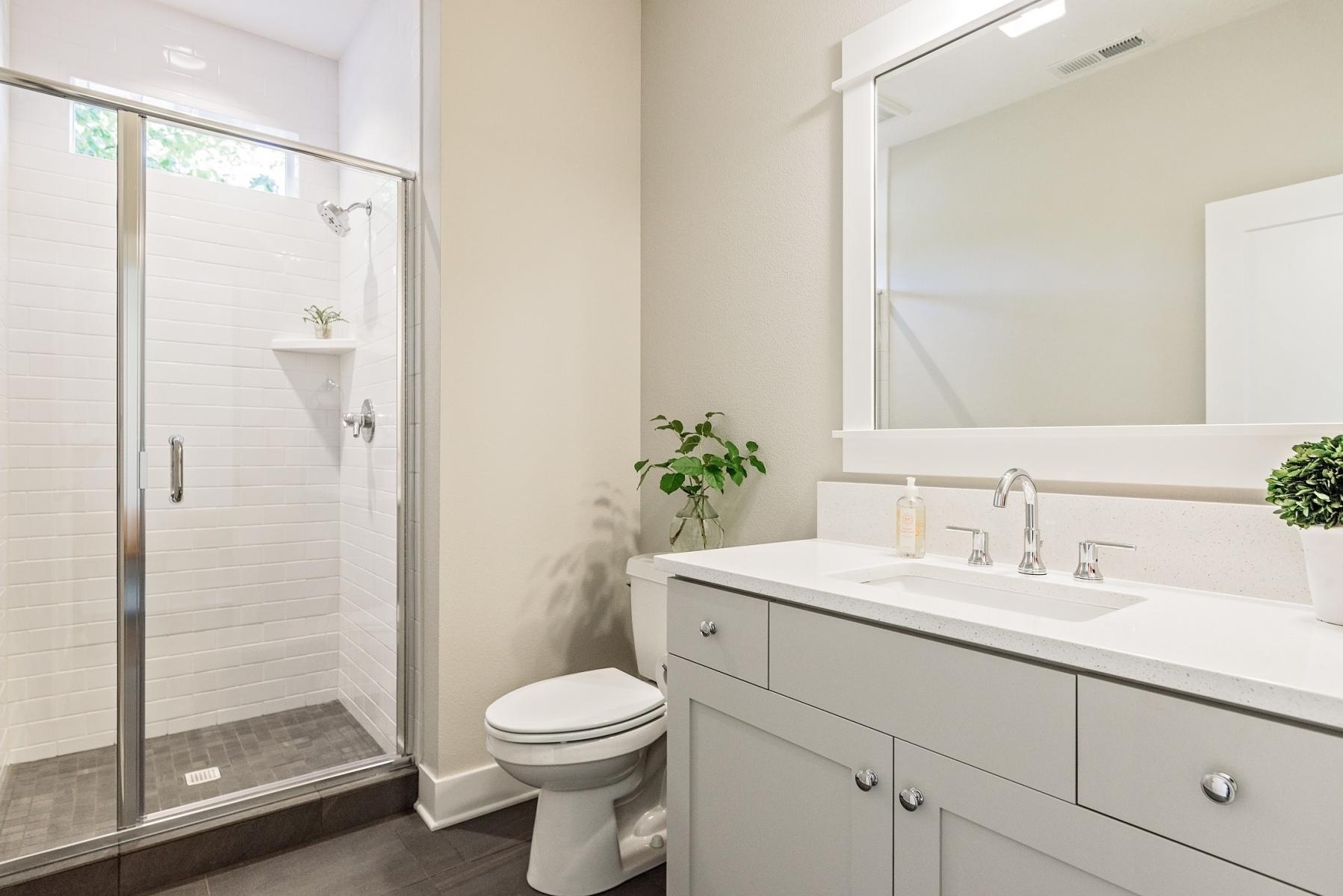 Main Floor Bathroom Next to Den