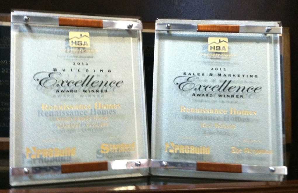 Renaissance Homes Wins 2 Excellence Awards