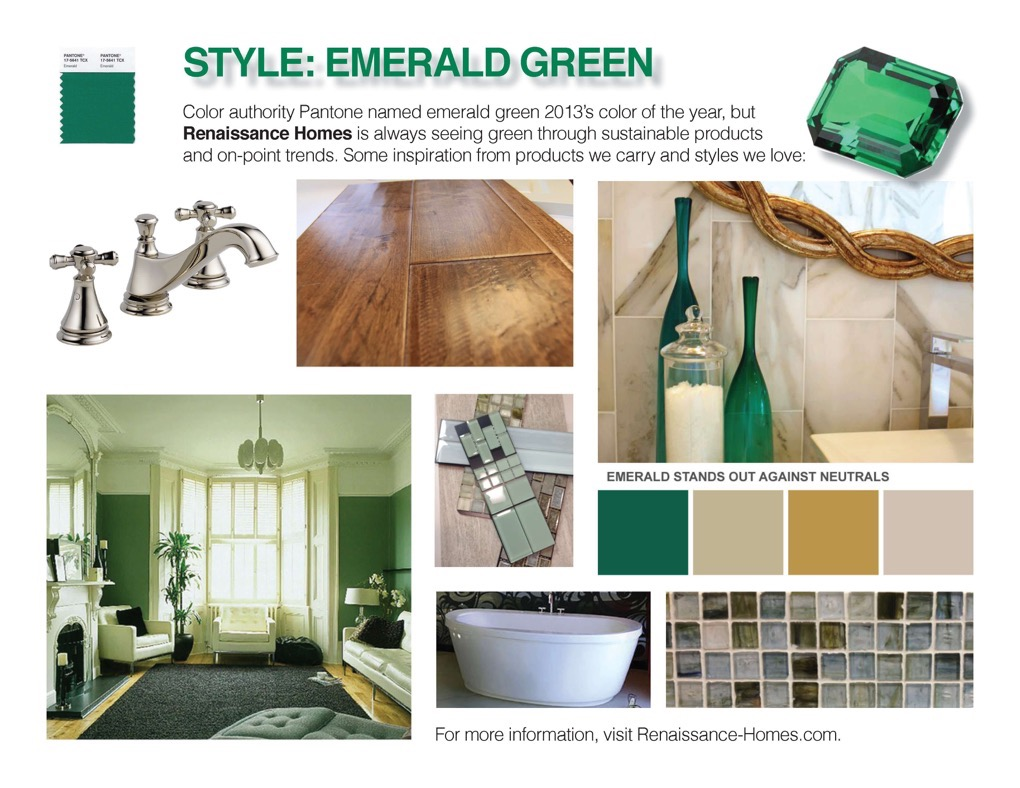Color trend | Emerald green
