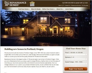 Renaissance Homes website - after.