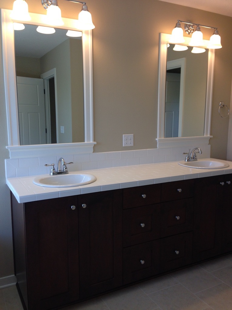 The master suite features a luxurious shower, soaking tub, walk-in closet and double sinks.