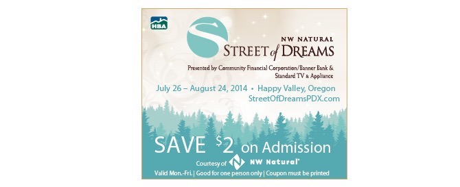 Street of dreams portland discount coupons